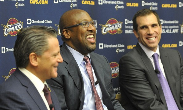Mike Grown, Dan Gilbert, Chris Grant - David Richard-USA TODAY Sports