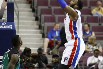 Andre Drummond  dunks on Haifa