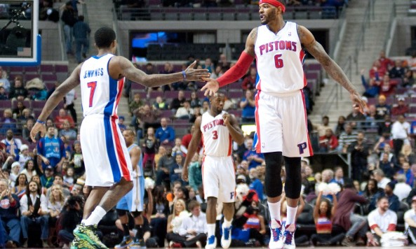 Josh Smith & Brandon Jennings celebrate
