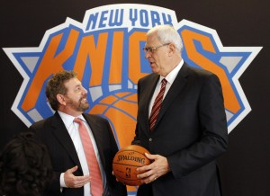 phil jackson & james dolan knicks press conference