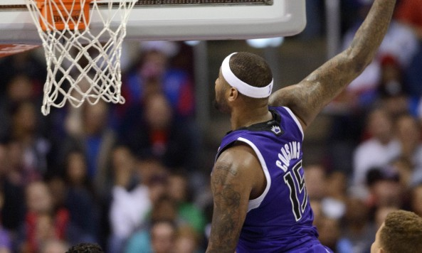 demarcus cousins dunks vs clippers