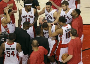 toronto raptors dejected after playoff game 7 loss to brooklyn 2014
