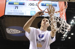 ucla's zach lavine cuts down net