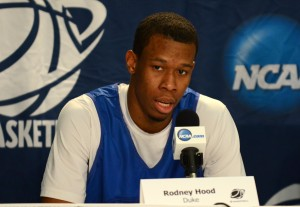 duke's rodney hood at press conference