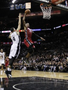 ray allen dunks in 2014 nba finals