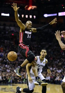 ray allen loses ball 2014 nba finals game 2