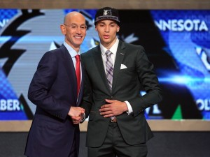 zach lavine & adam silver 2014 nba draft