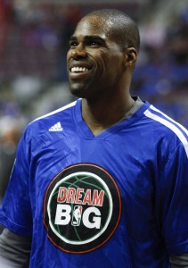 antawn jamison warming up la clippers