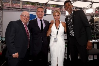 LOS ANGELES, CA - JULY 16: (L-R)   NBA analyst Bill Simmons, TV personality Michelle Beadle and NBA player Nick Young attend The 2014 ESPY Awards at Nokia Theatre L.A. Live on July 16, 2014 in Los Angeles, California.  (Photo by Christopher Polk/Getty Images For ESPYS)