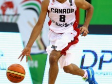 DUBAI, UNITED ARAB EMIRATES - AUGUST 14: Jamal Murray of Canada in action during the FIBA U17 World Championships Quarter-Final match between  Canada and Serbia at the Hamdan Sports Complex on August 14, 2014 in Dubai, United Arab Emirates.  (Photo by Francois Nel/Getty Images)