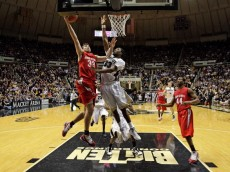 WEST LAFAYETTE, IN - JANUARY 12: Mark Titus #34 of the Ohio State Buckeyes shoots the ball during the Big Ten game against the Purdue Boilermakers at Mackey Arena on January 12, 2010 in West Lafayette, Indiana. Ohio state won 70-66.  (Photo by Andy Lyons/Getty Images)