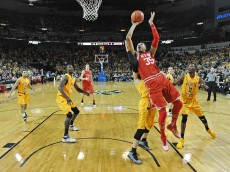 WICHITA, KS - DECEMBER 12:  of the Utah Utes of the Wichita State Shockers during the first half on December 12, 2015 at Intrust Bank Arena in Wichita, Kansas.  Wichita State defeated Utah 67-50. (Photo by Peter Aiken/Getty Images) *** Local Caption ***