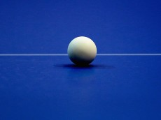 DUBAI, UNITED ARAB EMIRATES - JANUARY 08:  A ping pong ball is pictured on the table during day one of the ITTF World Team Cup at the Al Nasr Sports Club on January 8, 2015 in Dubai, United Arab Emirates.  (Photo by Warren Little/Getty Images for Falcon)