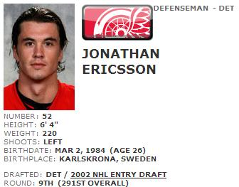 ericssonplayerprofile