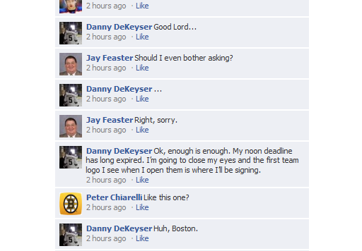 RW on FB DeKeyser signing