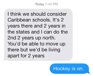 hockey is on