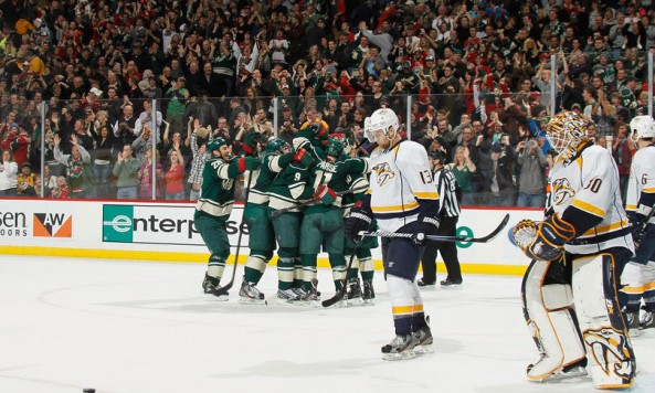 wild beat preds Photo by Bruce Kluckhohn NHLI via Getty Images