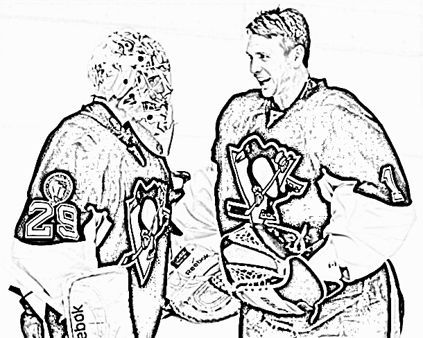 Penguins Coloring Pages Hockey