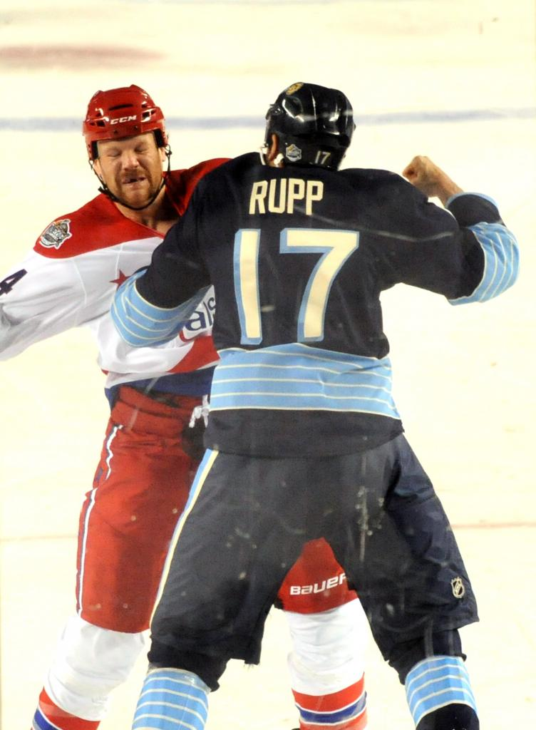 If I were fighting Mike Rupp, I'd have that look on my face too