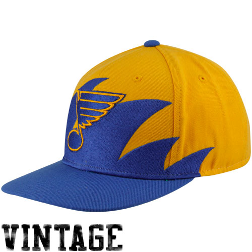 mitchell-ness-st-louis-blues-royal-blue-gold-nhl-sharktooth-snapback-adjustable-hat