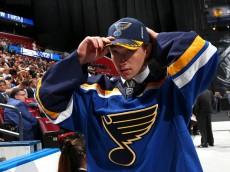during the 2015 NHL Draft at BB&T Center on June 27, 2015 in Sunrise, Florida.