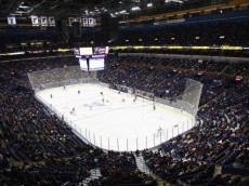 ST. LOUIS, MO - OCTOBER 21: A general view of the interior of the Scottrade Center as the St. Louis Blues play against the Carolina Hurricanes on October 21, 2011 in St. Louis, Missouri.  (Photo by Dilip Vishwanat/Getty Images)
