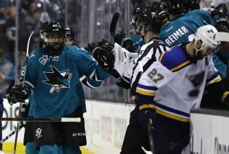 in Game Six of the Western Conference Final during the 2016 NHL Stanley Cup Playoffs at SAP Center on May 25, 2016 in San Jose, California.