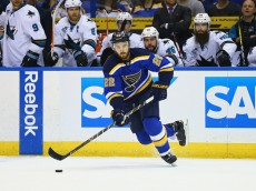in Game One of the Western Conference Final during the 2016 NHL Stanley Cup Playoffs at Scottrade Center on May 15, 2016 in St Louis, Missouri.