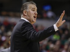 INDIANAPOLIS, IN - DECEMBER  20: Head coach Matt Painter of the Purdue Boilermakers seen during the game against the Notre Dame Fighting Irish at Bankers Life Fieldhouse on December 20, 2014 in Indianapolis, Indiana. Notre Dame defeated Purdue 94-63. (Photo by Michael Hickey/Getty Images)