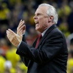 ANN ARBOR, MI - JANUARY 24:  Head coach Bo Ryan of the Wisconsin Badgers shouts to the officials during the first half of a Big Ten game against the Michigan Wolverines at Crisler Arena on January 24, 2015 in Ann Arbor, Michigan. (Photo by Duane Burleson/Getty Images)