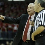 MADISON, WI - NOVEMBER 14: Head Coach Bo Ryan of the Wisconsin Badgers talks to the referee on the sidelines during the first half of play against the Northern Kentucky Norse at Kohl Center on November 14, 2014 in Madison, Wisconsin. (Photo by Mike McGinnis/Getty Images)
