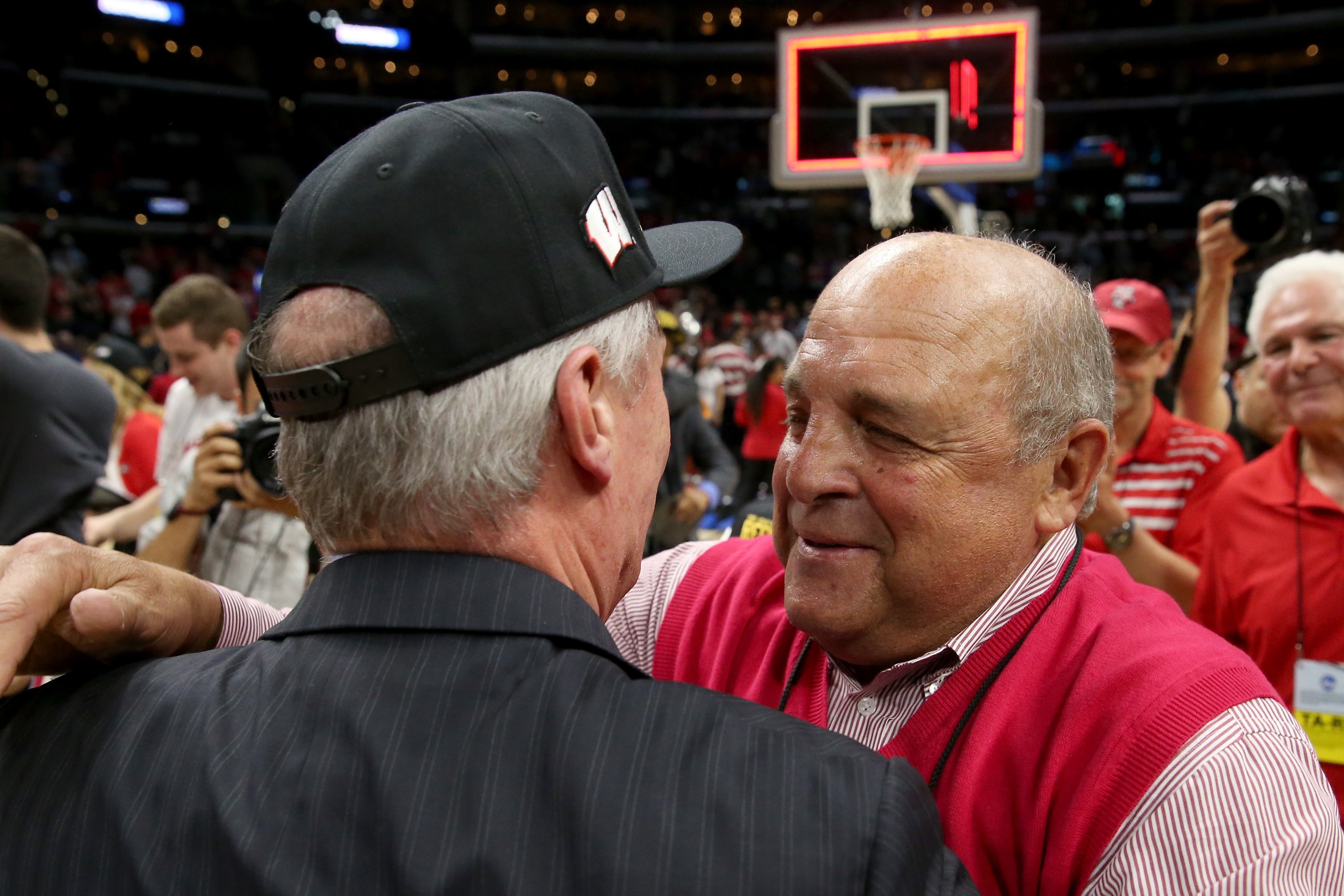 during the West Regional Final of the 2015 NCAA Men's Basketball Tournament at Staples Center on March 28, 2015 in Los Angeles, California.