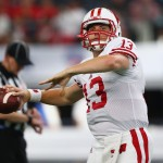 ARLINGTON, TX - SEPTEMBER 05:  Bart Houston #13 of the Wisconsin Badgers during the Advocare Classic at AT&T Stadium on September 5, 2015 in Arlington, Texas.  (Photo by Ronald Martinez/Getty Images)