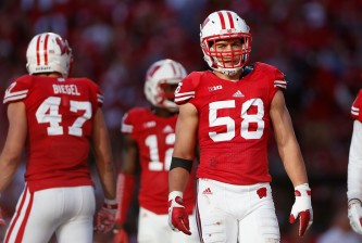 MADISON, WI - SEPTEMBER 19:  Linebacker Joe Schobert #58 of the Wisconsin Badgers during the college football game against the Troy Trojans at Camp Randall Stadium on September 19, 2015 in Madison, Wisconsin.  (Photo by Christian Petersen/Getty Images)