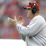 MADISON, WI - OCTOBER 31: Head Coach Paul Chryst of the Wisconsin Badgers celebrates on the sidelines during the second half against the Rutgers Scarlet Knights at Camp Randall Stadium on October 31, 2015 in Madison, Wisconsin. (Photo by Mike McGinnis/Getty Images)  *** Local Caption *** Paul Chryst