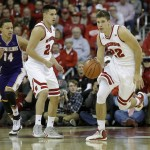 MADISON, WI - JANUARY 15: Ethan Happ #22 of the Wisconsin Badgers dribbles up the court on a fast break during the first half of play against the Western Illinois Leathernecks at Kohl Center on November 13, 2015 in Madison, Wisconsin. (Photo by Mike McGinnis/Getty Images)  *** Local Caption *** Ethan Happ