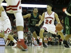 MADISON, WI - NOVEMBER 17: Bronson Koenig #24 of the Wisconsin Badgers dribbles up the court during the first half against the North Dakota Fighting Sioux at Kohl Center on November 17, 2015 in Madison, Wisconsin. (Photo by Mike McGinnis/Getty Images)