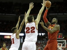 MADISON, WI - JANUARY 09: Robert Carter #4 of the Maryland Terrapins shoots a two pointer during the second half against Wisconsin Badgers at Kohl Center on January 09, 2016 in Madison, Wisconsin. (Photo by Mike McGinnis/Getty Images)  *** Local Caption *** Robert Carter