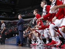 INDIANAPOLIS, IN - MARCH 10: Head coach Greg Gard of the Wisconsin Badgers looks on against the Nebraska Cornhuskers in the second round of the Big Ten Basketball Tournament at Bankers Life Fieldhouse on March 10, 2016 in Indianapolis, Indiana. Nebraska defeated Wisconsin 70-58. (Photo by Joe Robbins/Getty Images)