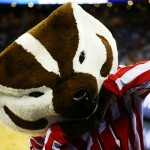 OMAHA, NE - MARCH 20:  Bucky Badger, mascot for the Wisconsin Badgers performs in the first half against the Coastal Carolina Chanticleers during the second round of the 2015 NCAA Men's Basketball Tournament at the CenturyLink Center on March 20, 2015 in Omaha, Nebraska.  (Photo by Ronald Martinez/Getty Images)