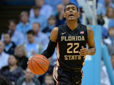 CHAPEL HILL, NC - JANUARY 24: Xavier Rathan-Mayes #22 of the Florida State Seminoles moves the ball against the North Carolina Tar Heels during their game at the Dean Smith Center on January 24, 2015 in Chapel Hill, North Carolina. (Photo by Grant Halverson/Getty Images)