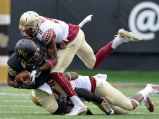 during their game at BB&T Field on October 3, 2015 in Winston Salem, North Carolina. Florida State won 24-16.