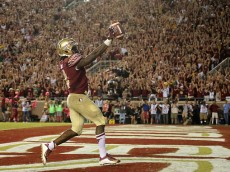 during a game  at Doak Campbell Stadium on October 10, 2015 in Tallahassee, Florida.