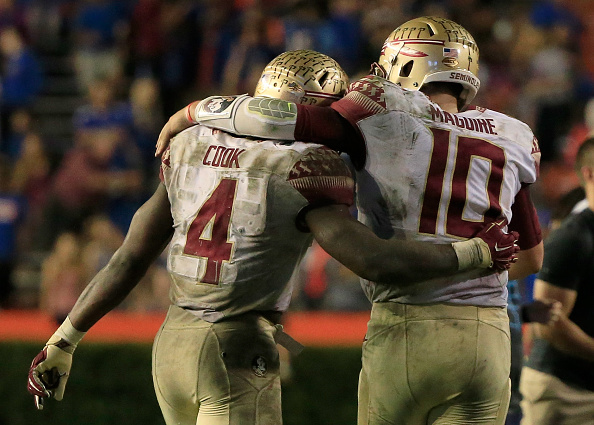 during the game at Ben Hill Griffin Stadium on November 28, 2015 in Gainesville, Florida.