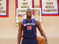"The Detroit Pistons unveiled these ""Motor City"" alternates last season."