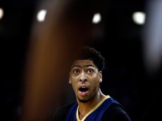 SACRAMENTO, CA - APRIL 03:  Anthony Davis #23 of the New Orleans Pelicans questions a call during their game against the Sacramento Kings at Sleep Train Arena on April 3, 2015 in Sacramento, California.  NOTE TO USER: User expressly acknowledges and agrees that, by downloading and or using this photograph, User is consenting to the terms and conditions of the Getty Images License Agreement.  (Photo by Ezra Shaw/Getty Images)