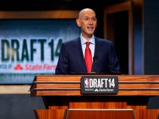 NEW YORK, NY - JUNE 26: NBA Commissioner Adam Silver commences the 2014 NBA Draft at Barclays Center on June 26, 2014 in the Brooklyn borough of New York City. NOTE TO USER: User expressly acknowledges and agrees that, by downloading and/or using this Photograph, user is consenting to the terms and conditions of the Getty Images License Agreement. (Photo by Mike Stobe/Getty Images)