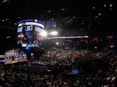 NEW YORK, NY - JUNE 27:  A general view of the draft floor during the 2013 NBA Draft at Barclays Center on June 27, 2013 in in the Brooklyn Bourough of New York City.  NOTE TO USER: User expressly acknowledges and agrees that, by downloading and/or using this Photograph, user is consenting to the terms and conditions of the Getty Images License Agreement.  (Photo by Mike Stobe/Getty Images)