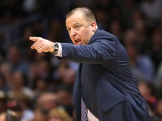 LOS ANGELES, CA - NOVEMBER 17:  Head coach Tom Thibodeau of the the Chicago Bulls shouts instructions in the game with the Los Angeles Clippers at Staples Center on November 17, 2014 in Los Angeles, California. The Bulls won 105-89.  NOTE TO USER: User expressly acknowledges and agrees that, by downloading and or using this photograph, User is consenting to the terms and conditions of the Getty Images License Agreement.  (Photo by Stephen Dunn/Getty Images)