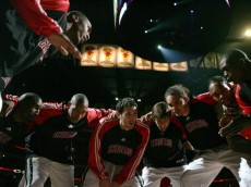 CHICAGO - NOVEMBER 08:  (L-R) Tyrus Thomas #24, Ben Gordon #7, Chris Duhon #21, Kirk Hinrich #12, Andres Nocioni #5, Joakim Noah #13, Thomas Gardner #31 and Luol Deng #9 of the Chicago Bulls huddle up with teammates during pregame festivities prior to playing against the Detroit Pistons at the United Center on November 8, 2007 in Chicago, Illinois.  (Photo by Jonathan Daniel/Getty Images)